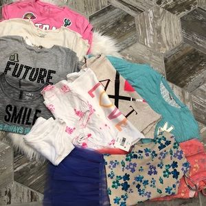Girls tee shirt bundle size 10/12